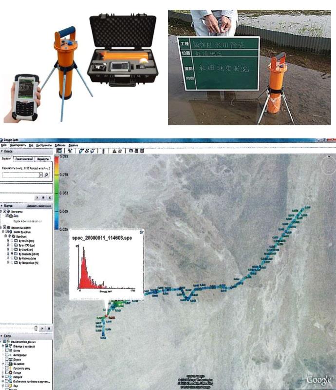 GPS内蔵土壌汚染スクリーニングシステム