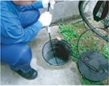 トイレ排水管の洗浄例