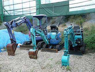 コマツPC20UU-3、コベルコSK09-SR、クボタU-10