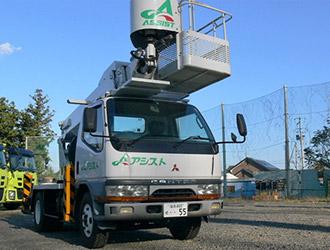 トラックマウント式高所作業車